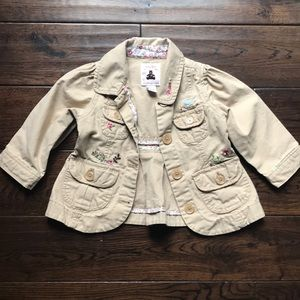 GAP Embroidered jacket 6-12 month